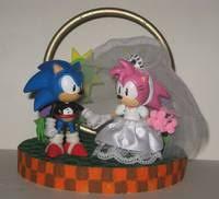 sonic cake topper sonic wedding cake topper sonic custom diorama playset
