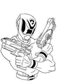 power rangers spd shooting ready coloring coloring pages
