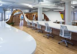 long desk for 2 330 meter super long desk shared by one company s 125 employees