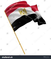 Egypts Flag 3d Egyptian Flag Clipping Path Included Stock Illustration