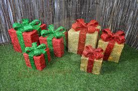 christmas present light boxes set of 3 led battery powered light up glitter sparkle christmas