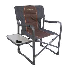 Folding Directors Chair With Side Table Natural Instincts Platinum Heavy Duty Director U0027s Chair