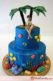 30 sizzling summer themed cake ideas pink cake box