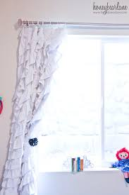 Ruffled Pink Curtains How To Make Ruffled Curtains Honeybear Lane
