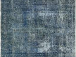 9x11 Area Rugs New 9x11 Handmade Knotted Overdyed Blue Floral Wool