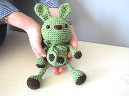 Bunny Rabbit Home Decor Crochet Handmade Green Bunny Rabbit Amigurumi Home Decor Kids Baby