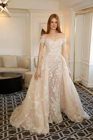 civil wedding dresses discount vintage zuhair murad chagne wedding dress the