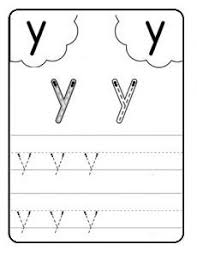 writing lowercase letter y writing the alphabet and letters