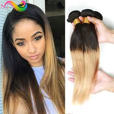 honey weave ombre hair 3pcs human hair weave sale 1b
