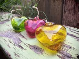 heart decorations home vintage blown glass hanging heart ornaments for the home from