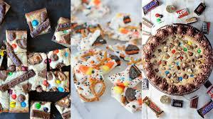 leftover halloween candy recipes cookies blondies bars bark