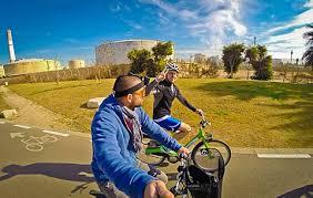 steve in a speedo gross post race bike ride around tel aviv