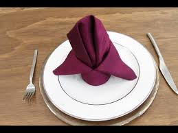 napkin rentals how to fold a bishop s hat napkin classic party rentals