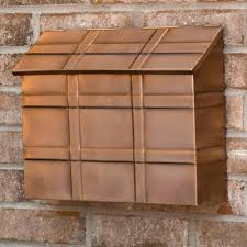 Whitehall Wall Mount Mailbox Side Viewwall Mounted Mailboxes Home Depot Locking Wall Mount