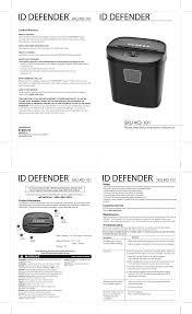 si e de homedics homedics id defender 101 users manual