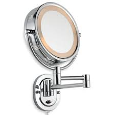 Wall Mounted Magnifying Mirror 10x Buy Wall Mounted Lighted Mirror From Bed Bath U0026 Beyond