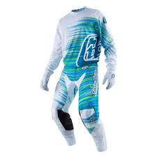 troy lee motocross gear 30412810 tld 17 gp air jersey electro white lusty industries