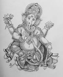 simple lord ganesha sketches simple pencil sketches of ganesha