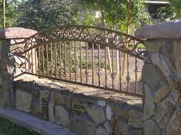 Decorative Iron Railing Panels Decorative Wrought Iron Fencing 3 Rail Arched Decorative View