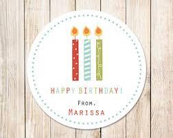 personalized birthday candles happy birthday tag etsy