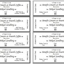 ticket template event ticket template templates for microsoft word throughout