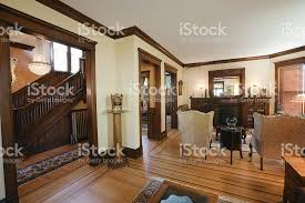 Victorian Home Interior by Living Room And Staircase Of Restored Renovated Victorian Home