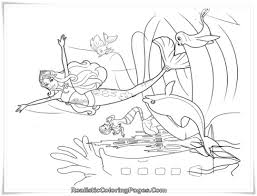 barbie mermaid coloring page 11653