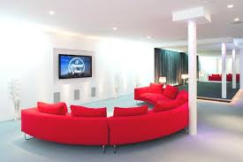 Curved White Sofa by Stylish Curved Red White Sofa Set In A Modern Living Apartment