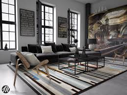striped rug living room interior design ideas