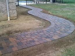 Installing Patio Pavers On Sand Laying Patio Pavers For Outdoors Wonderful Installing