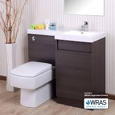 oak bathroom white basin vanity unit wc toilet cabinet furniture