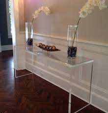 Sofa Console Tables by Acrylic Console Table Desk Lucite Waterfall Sofa Diy Acrylic
