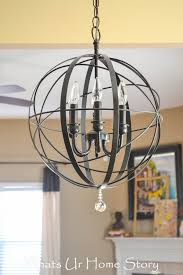 Iron Orb Chandelier Diy Orb Chandelier Whats Ur Home Story