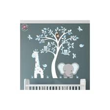 jungle animal nursery wall art stickers safari woodland blue and grey nursery wall stickers