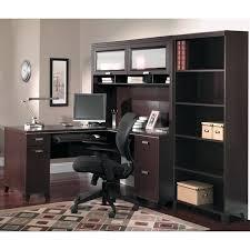 desk bush tuxedo l desk mocha cherry bush cabot collection l