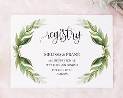 wedding resitry wedding registry template wedding registry card enclosure