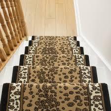 leopard print stair carpet runner