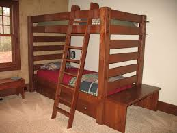 Wooden Bunk Bed With Futon Bedroom Wood Kids Bunk Bed With Storage Drawers Underneath And
