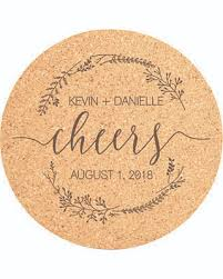 wedding coasters favors deals on cork coaster set cheers engraved coasters wedding