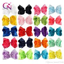 hair bows 8 inch fashion large hair bows grosgrain ribbon rhinestone hair