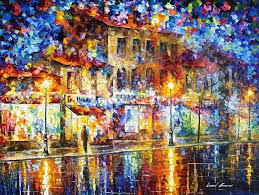 colors of emotions palette knife oil painting on canvas by