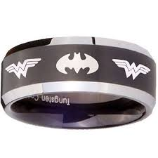 batman engagement rings tungsten carbide ring scratch free everlasting quality best