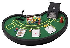 Sports Desk Accessories Amazon Com Desktop Miniature Blackjack Table Set With Mini Card