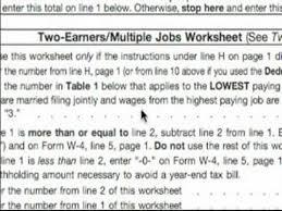 basic explanation of w 4 tax form two earners u0026 multiple jobs w