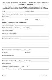 incident hazard report form template incident report exle kb hazard form reporting format sle