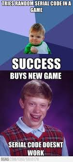 Memes Bad Luck Brian - bad luck brian bought new game memes humour and success kid