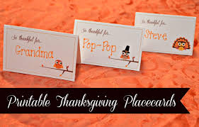printable name place cards printable thanksgiving placecards creative market