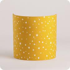 applique chambre enfant applique murale enfant en tissu motif étoile moutarde