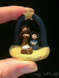 nativity ornament polymer clay by pasticheaccessories