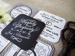 elopement invitations happily afterparty post elopement party invites on behance